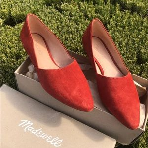 Madewell pointy suede flats